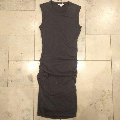 James Perse Skinny Crew Neck Tank Dress Charcoal, size US0 UK4