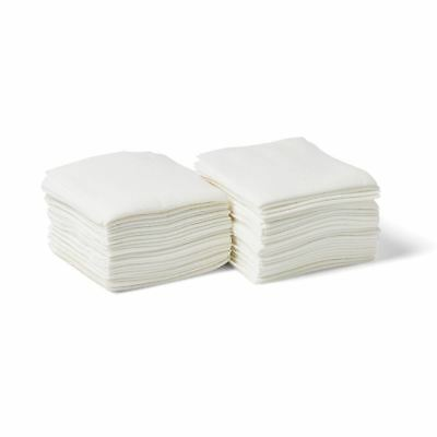 Deluxe Dry Disposable Washcloths,White,13