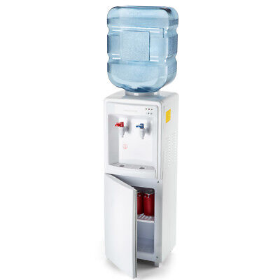 Farberware Freestanding Concise Water Cooler Hot and Cold  Dispenser, White