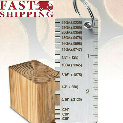 Metal Sheet Thickness Steel Wire Gauge Welding Gage Plated Size Inspection Us