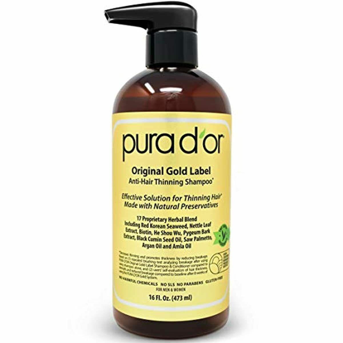 PURA D'OR Original Gold Label Anti-Thinning Shampoo Clinical