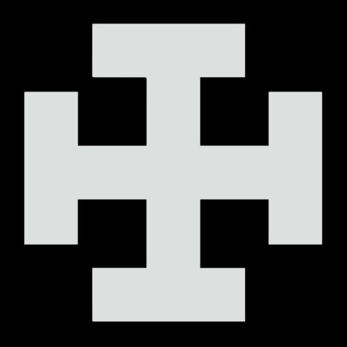 Teutonic Tau Cross Masonic Vinyl Decal - White 6 Inch
