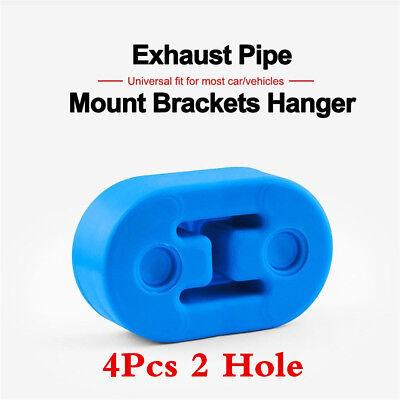 4X Sports Heavy Duty Car Exhaust Hanger Bracket Rubber Mount Universal 12mm hole