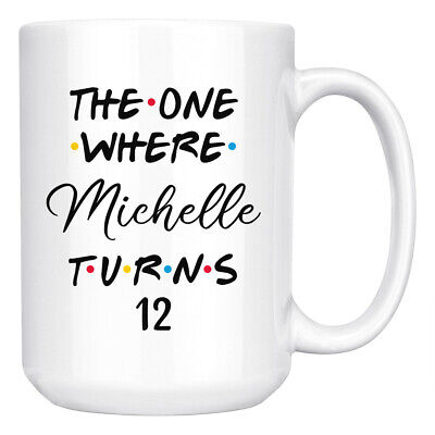 Personalized 12th Birthday Mug, Happy 12th Birthday Party, 12 Years Old Kid Gift (12 Year Old Gifts)