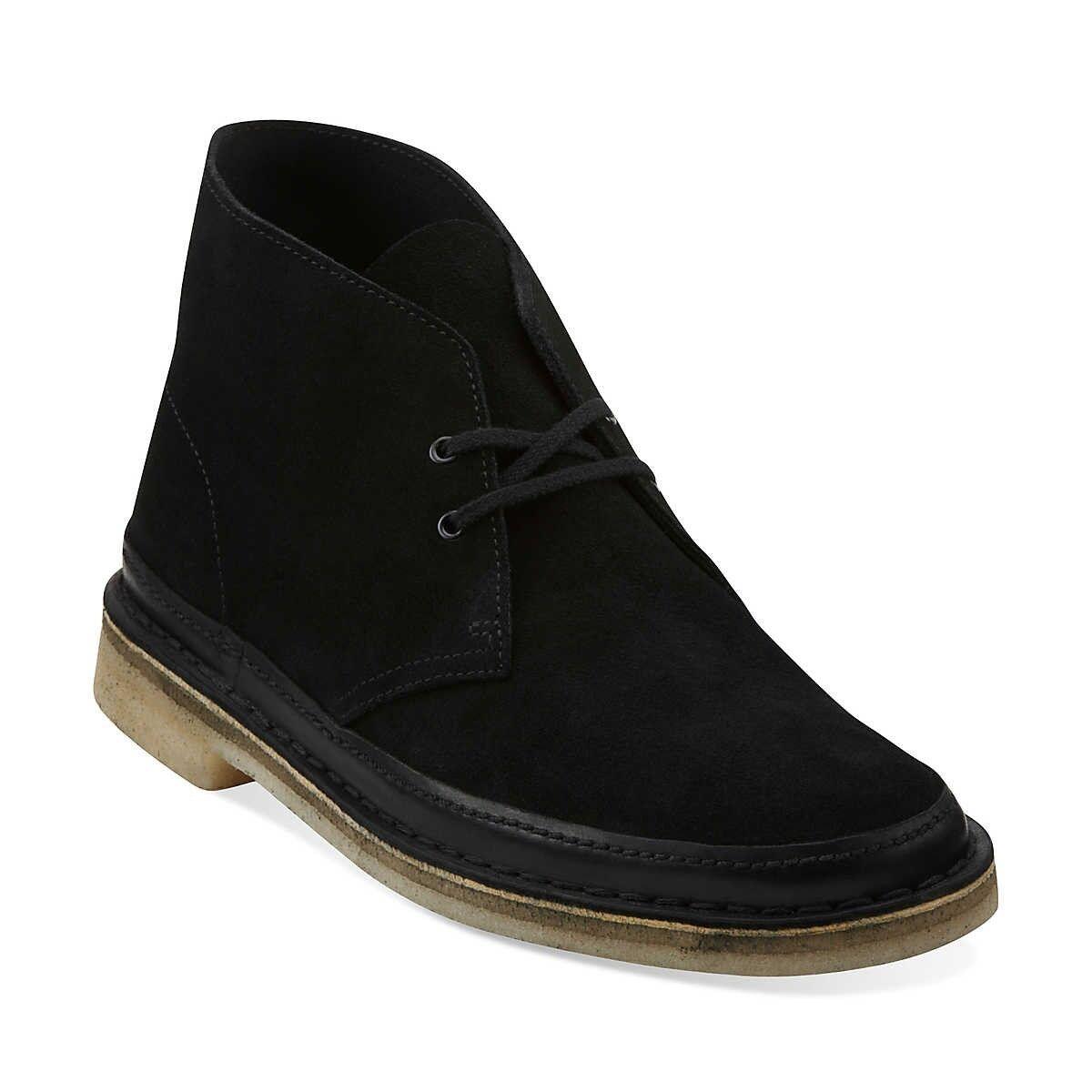 Clarks Originals Desert Guard Black Suede Men's Shoes 62131