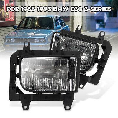 Pair Front Bumper Driving Lamp Fog Light for E30 318i 318is 325i 1985-1993 1992