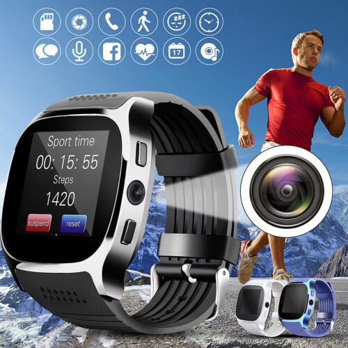T8 Bluetooth Smart Watch Support SIM TF Card With Camera Wristwatch Music Player