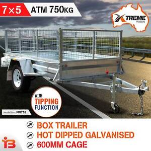 New Full Welded 7X5 Galvanized Box Trailer with 600mm Cage Fairfield Fairfield Area Preview