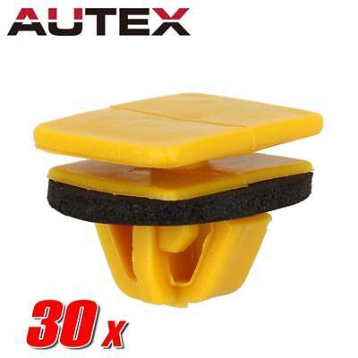 30x Nylon Side Trim Moulding Rocker Clips Rivet Retainer for Hyundai Sonata