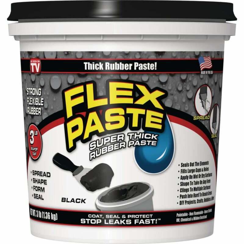 Flex Paste 3 Lb. Rubber Sealant, Black PFSBLKR32  - 1 Each