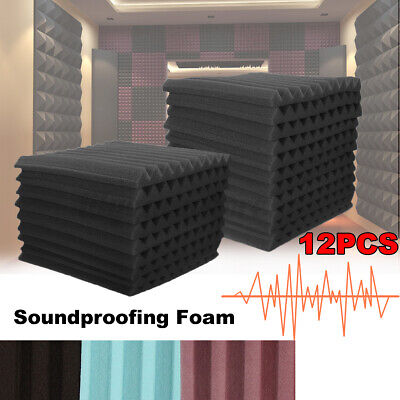 12Pack Acoustic Wall Panels Sound Proofing Foam Pads Sound Studio