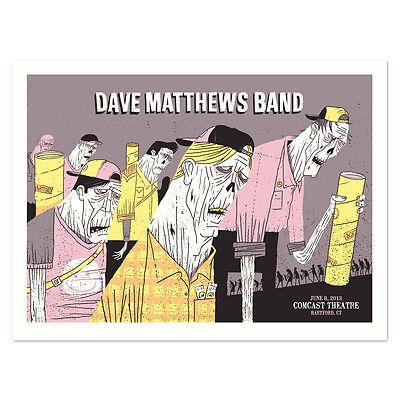 2013 DAVE MATTHEWS BAND HARTFORD WALKING DEAD ZOMBIES CONCERT POSTER 6/8 BONUS