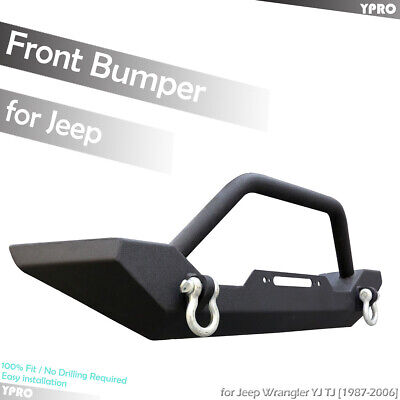 Black Textured Front Bumper for 1987-2006 JEEP WRANGLER YJ / TJ Off-Road Armor