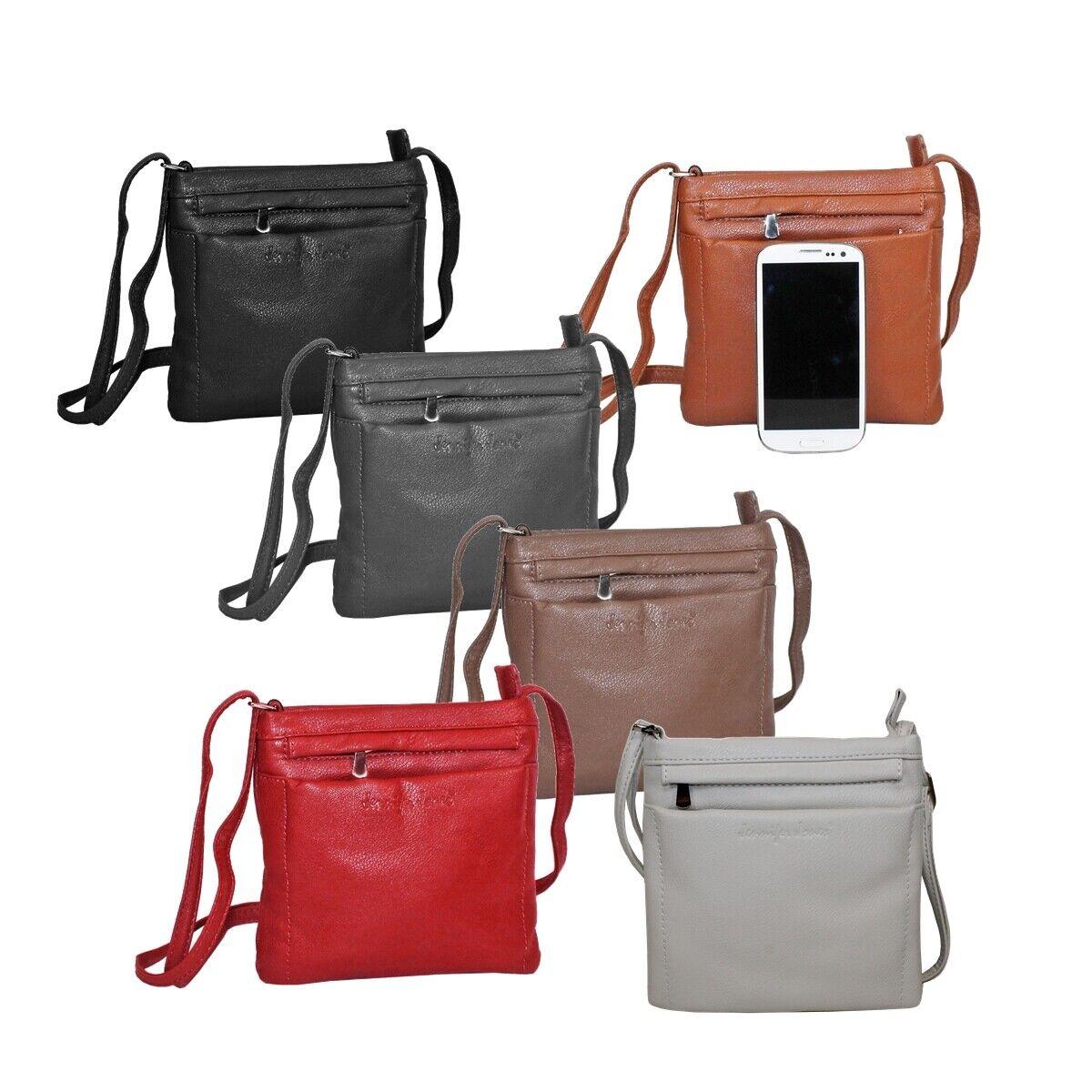 Jennifer Jones Umhängetasche klein Damen Handtasche Ausgehtasche Farbwahl BS0*