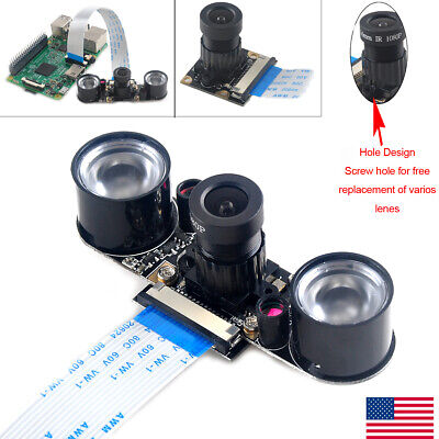 Night Vision Camera Adjustable Focus 5MP OV56471080p for Raspberry-pi 2 /3 B/B+