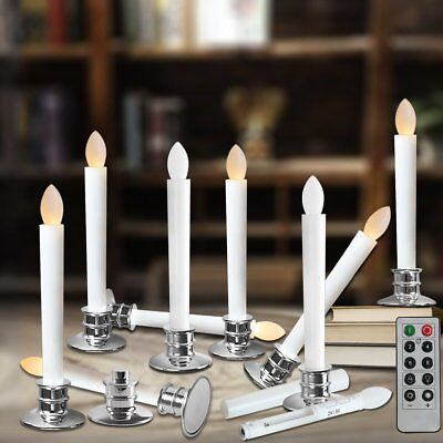 Window Candles With Remote Timers Battery Operated Flickering Flameless Led