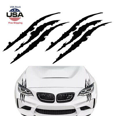 2pcs 15''Black Monster Claw Marks Decal Reflective Sticker For Car Headlight NEW Decal Stickers For Cars