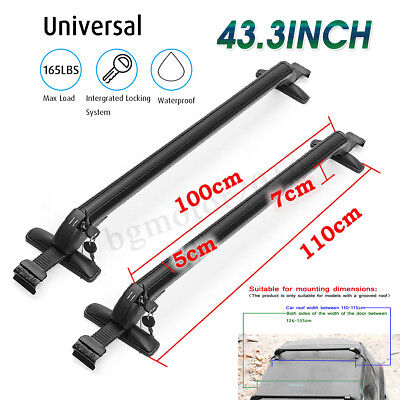 Used, Aluminum Car Top Luggage Roof Rack Cross Bar Carrier Adjustable Window Frame US for sale  Shipping to Canada