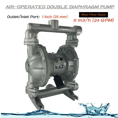 Air-operated Double Diaphragm Pump 1 Inletoutlet 24gpm 115psi Industrial Use