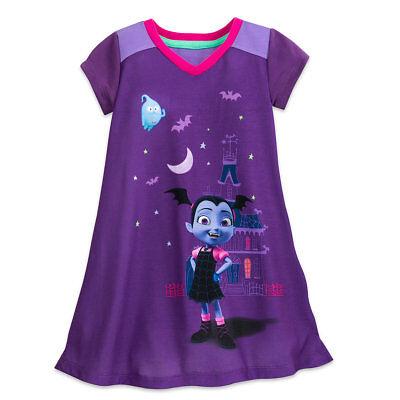 Disney Store Vampirina Nightshirt Pajamas Pjs For Girls Size 2 3 4 5 6 7 8 9 10