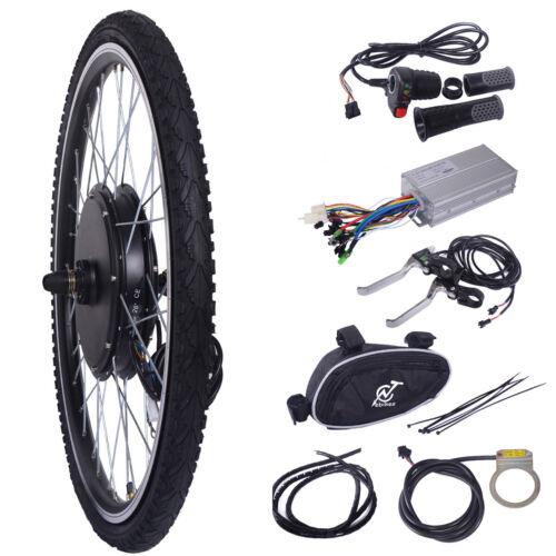 "26"" 48V 1000W Front Electric Ebike Wheel Bicycle Motor Conversion Kit Motor Hub"