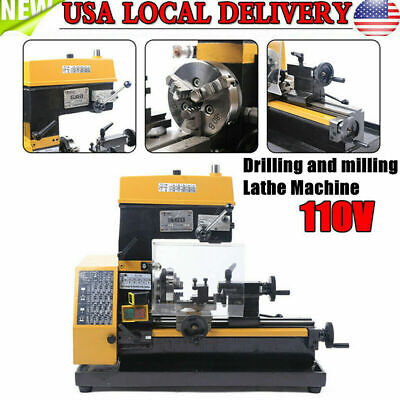 Ct125 3-in-1 Micro Multi-function Drilling And Milling Lathe Machine 180w Top