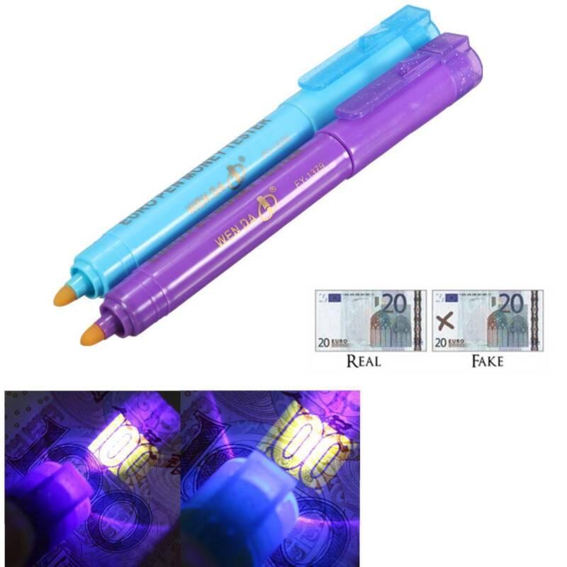 Counterfeit Fake Bank Note Money Counter Testing Tester Detector Pen UV light