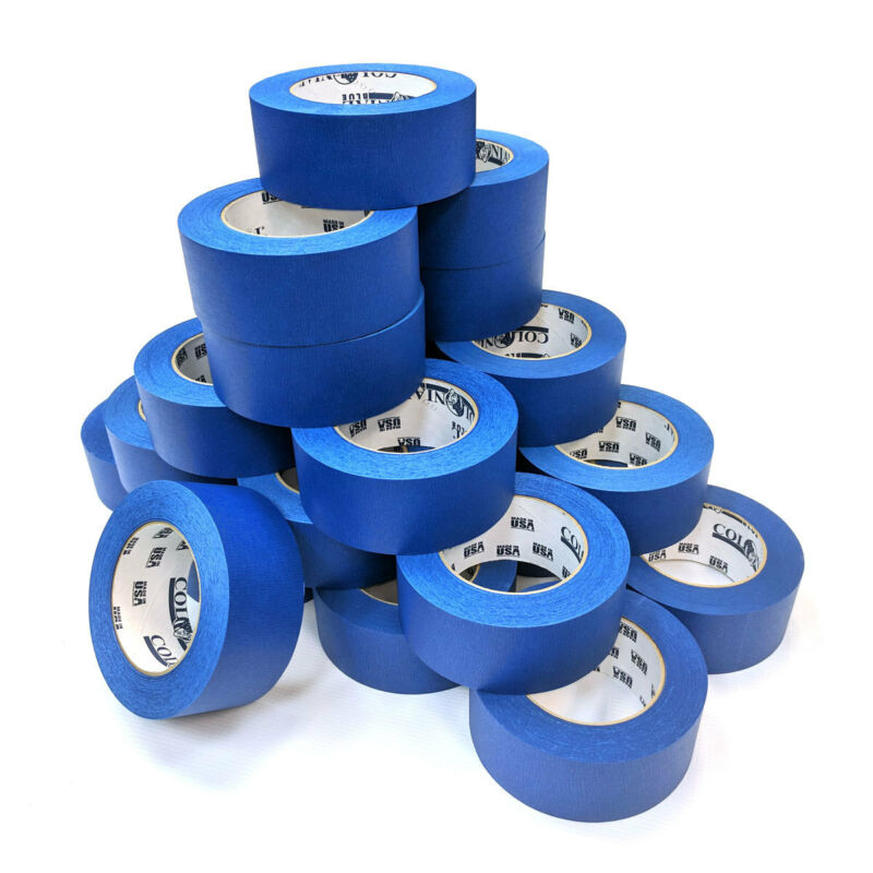 "Shurtape 104661 2"" Blue Painters Tape, 60 Yards/Roll, Case of 24"
