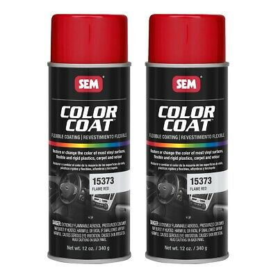 SEM 15373 Color Coat Flame Red Spray Paint Aerosol Can 12 oz. (2 (Flame Red Aerosol)