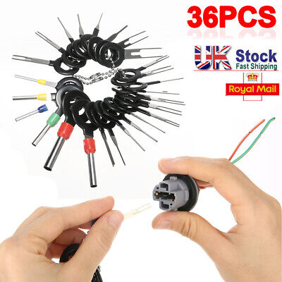 36PCS Automotive Terminal Removal Tool Car Wire Plug Connector Extractor Pin Kit