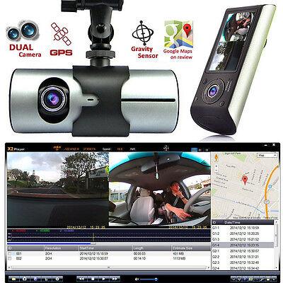 2 7  Vehicle 1080P Car Dvr Camera Video Recorder Dash Cam Dual Lens G Sensor Gps