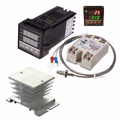 Digital Lcd Pid Temperature Controller Max.40a Ssr K Thermocouple Probe Sensor