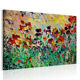 Framed HD Canvas Print Picture Wall Art Painting-Abstract Flowers Ready To Hang