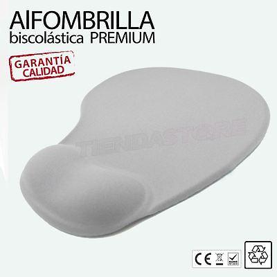 Alfombrilla raton premium biscolastica gel apoyo reposamuñecas Gris