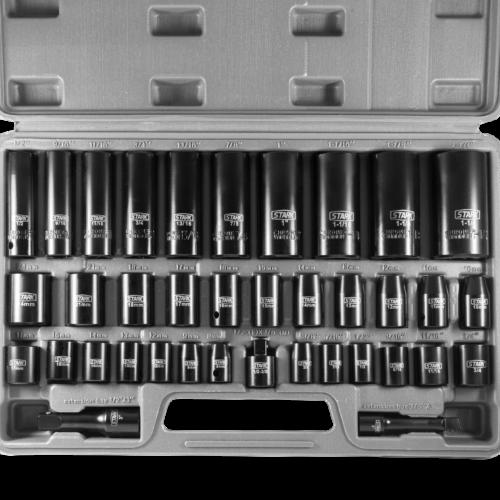 38PC Duo Combo Impact Socket Set 3/8