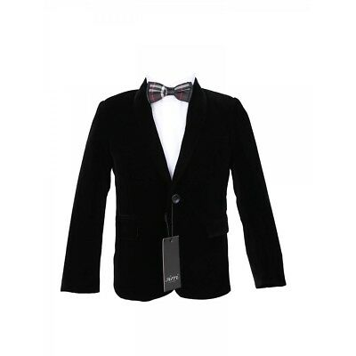 Velvet Blazer Boys (Boys Black Velvet Jacket Kids Shawl Lapel Blazer Formal Wear Wedding)