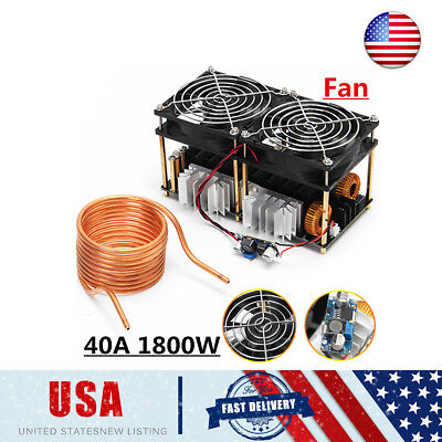 1800w Zvs Induction Heating Board Module Flyback Driver Heatertesla Coil Fan