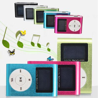 Mini Digital Clip MP3 Player USB LCD Screen Support 32GB Micro SD TF Card UK