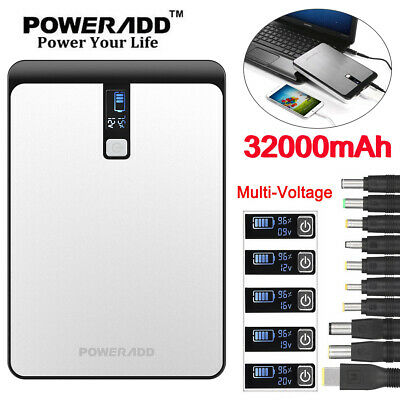 Poweradd External 32000mAh Power Bank USB Battery Charger For Phone Notebooks ()