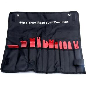 11pc Trim Removal Tool Kit upholstery trim moldings pry clip dash door panels