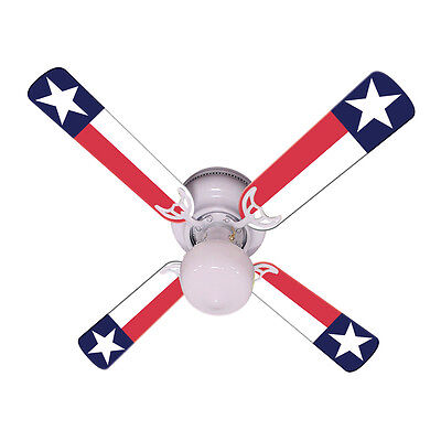 New TEXAS STATE FLAG LONE STAR Ceiling Fan 42