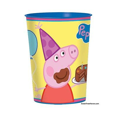 Peppa Pig Plastic Cup (PEPPA PIG Party FAVOR Birthday Cups Stadium Decoration Plastic Supplies Piggy)