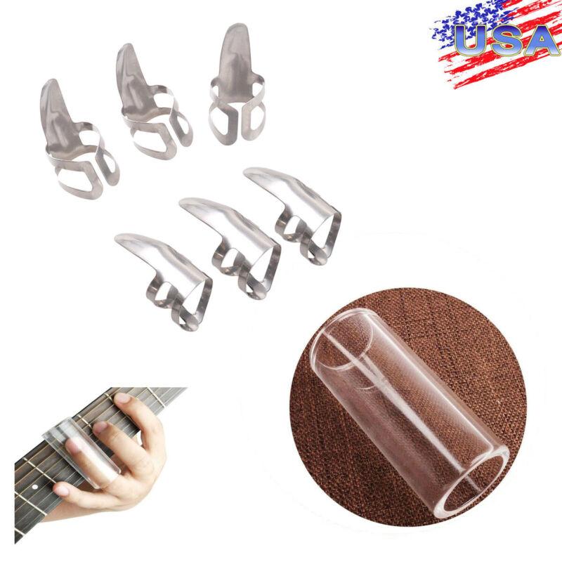 Lap & Pedal Steel Guitar Slide Glass Stick String Tube & Guitar Finger Picks