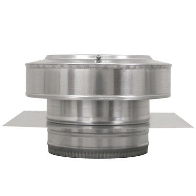 8 In. Diameter Aluminum Round Back Roof Jack Vent Cap For Existing Duct Work