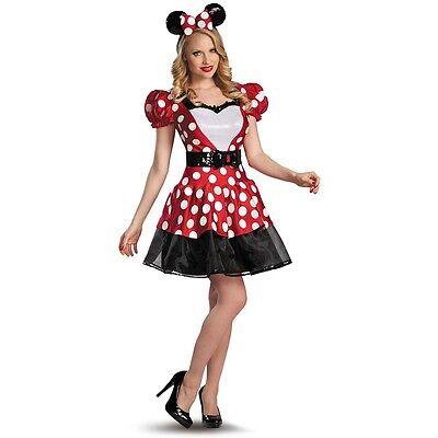 Minnie Mouse Costume Adult Womens Disney Halloween Fancy Dress