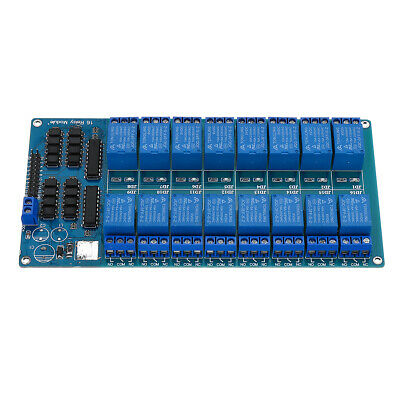 1pcs 16 Canale Relay Module With Optocoupler For Pic Avr Dsp Arm Arduino 5v Us