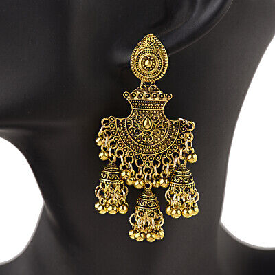 - Fashion Traditional Tribal Oxidized Jhumka Earrings Indian Bollywood Jewelry New