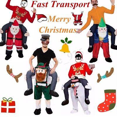 US Carry Me Piggy Back Ride On Mascot Dress Party Costume Festival Santa Claus - Santa Mascot Costume