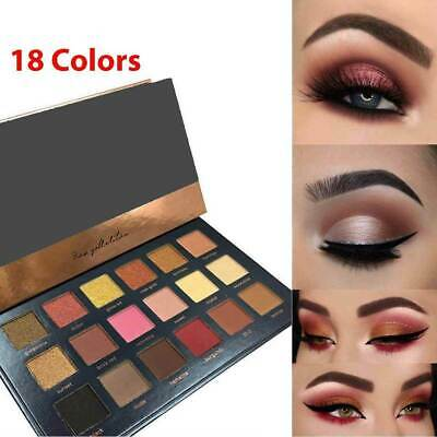 18 Colors Eyeshadow Palette Matte Powder Eye Shadow Makeup Shimmer PRO Kit Set