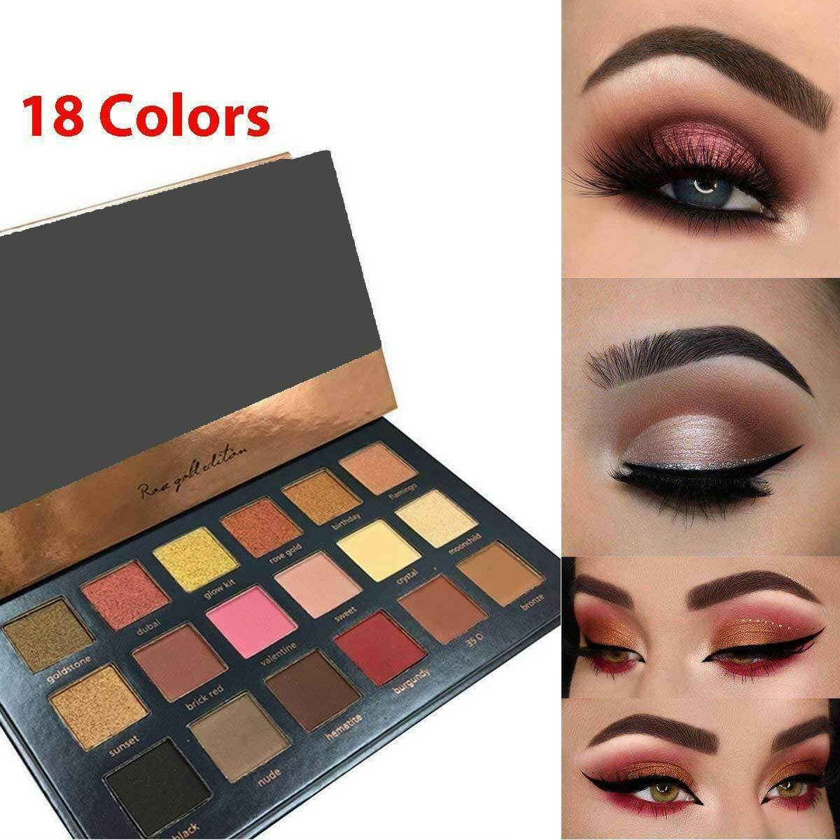 18 Colors Eyeshadow Palette Matte Powder Eye Shadow Makeup Shimmer PRO Kit Set Eye Shadow